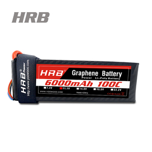 Lipo Battery 2S 3S 4S 5S 6S 6000mAh 100C Max 200C Graphene Lipo Battery for  RC Helicopter Boat Traxxas Car