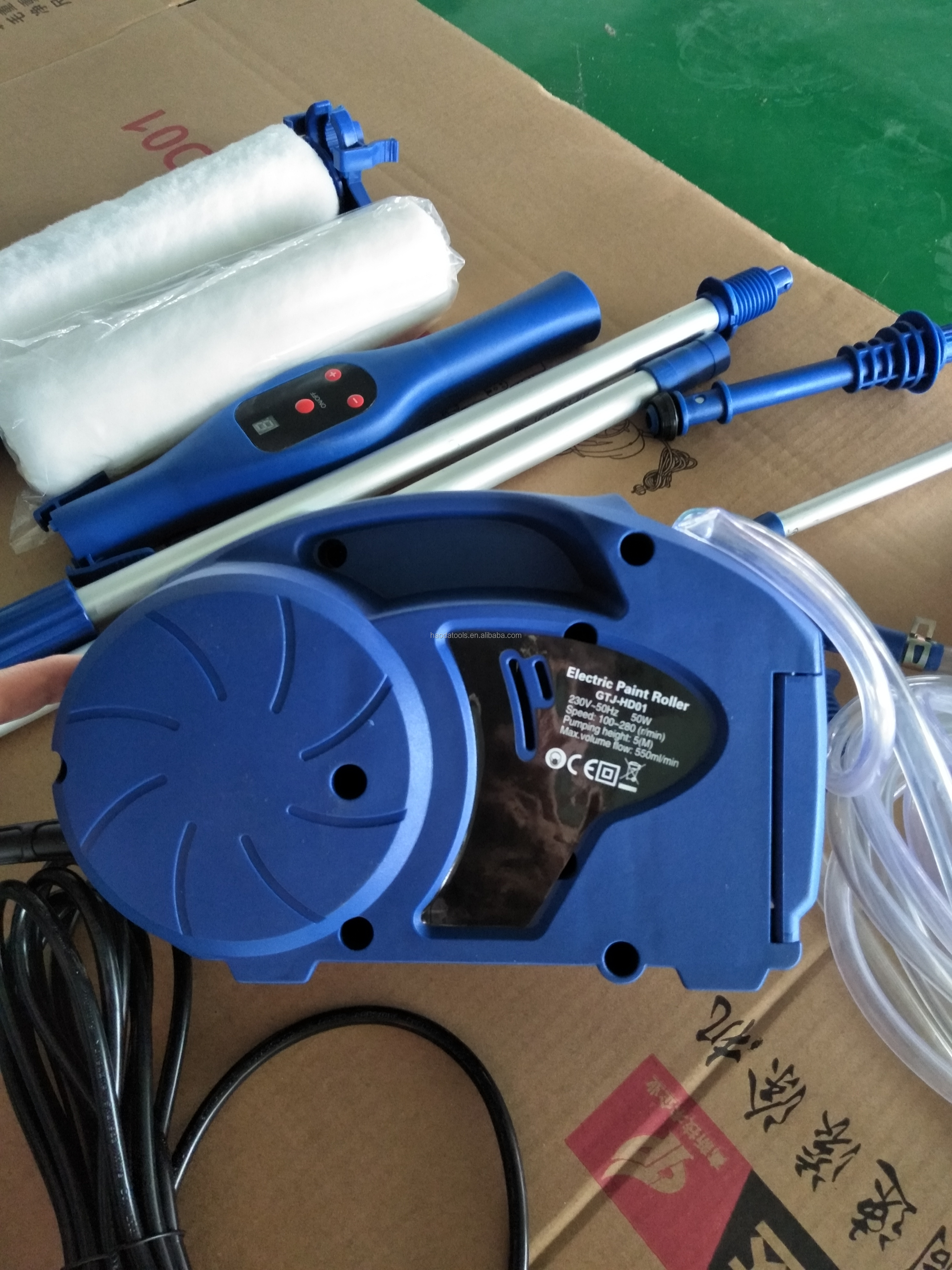 ELECTRIC PAINT ROLLER WITH REMOTE CONTROL