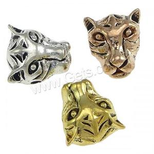 Tiger Head Charm Spacer Beads Zinc Alloy Metal Beads