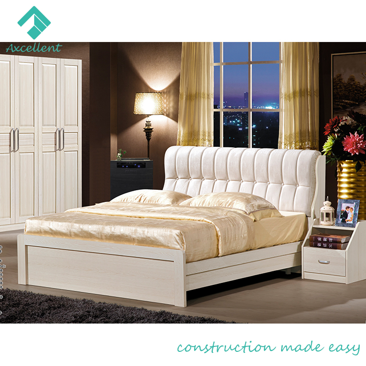 Soft Competitive Price Wooden Latest Double Bed Design - Buy