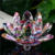 Hot Quality Colorful Decoration Gifts K9 Crystal Lotus Flower