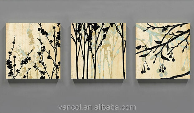 3 pieces gallery wrapped blank painting canvas, hand painting canvas