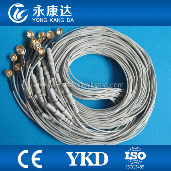 Silver plating EEG electrodes cap,Din1.5 eeg cable for medical,CE&ISO13485 proved Manufacturer