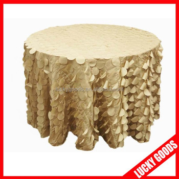 Popular Champagne Wedding Table Cloth Design For Wedding Or Party