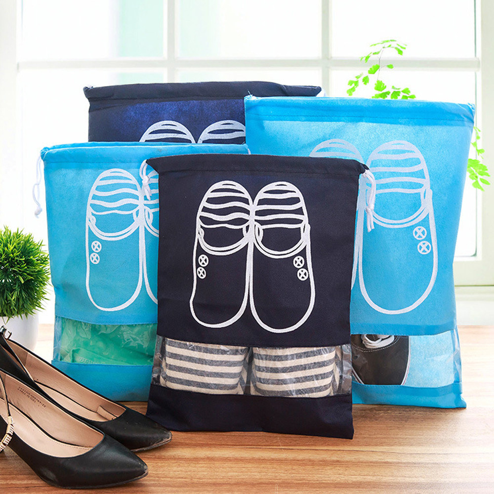 Thicker Belt Travel Storage Shoe Bag Tote Belt Storage Travel Portable Nonwovens A Wide Selection Of Colours And Designs Storage Boxes & Bins