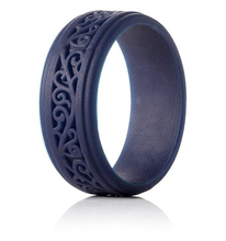 Amazon Hot Koop Fashion Custom Logo Silicone Rubber Wedding Ring Engagement Ring Voor Mannen