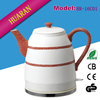 New design home appliance 1.6L cordless porcelain electric kettle with best price