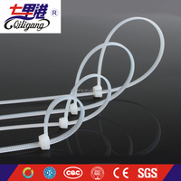 QILIGANG Self-Locking Cable Ties WHITE nylon cable tie