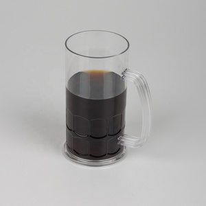 B03-1132 16OZ Promotional Plastic Beer Mug Cup With Handle