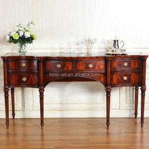C287 Living Room Antique Console Table with Drawers