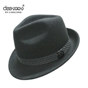 2e555b949acf4 Rolled Brim Felt Fedora Hat