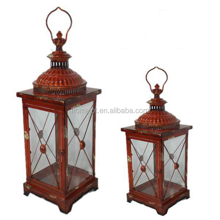 Wholesale Iron Candle Lantern Reusable Garden Decor Antique Metal Lantern