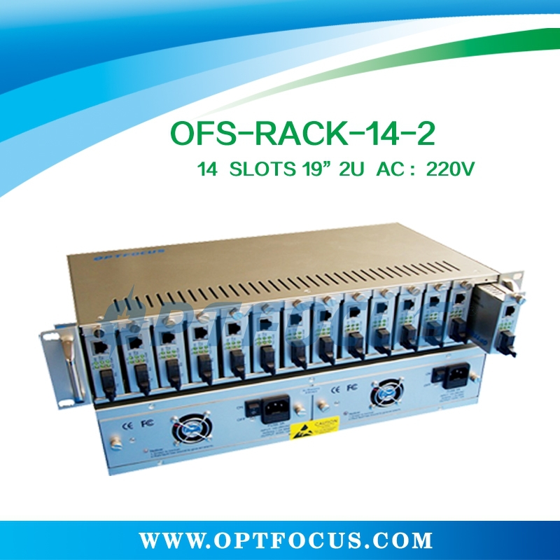 14 Slots 19 inch rack ,2U dual power supply with 4 fan sand alone