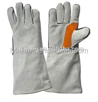 LUJIANG SAFETY 14 inch cowhide leather protective hand welding gloves industrial safety equipments