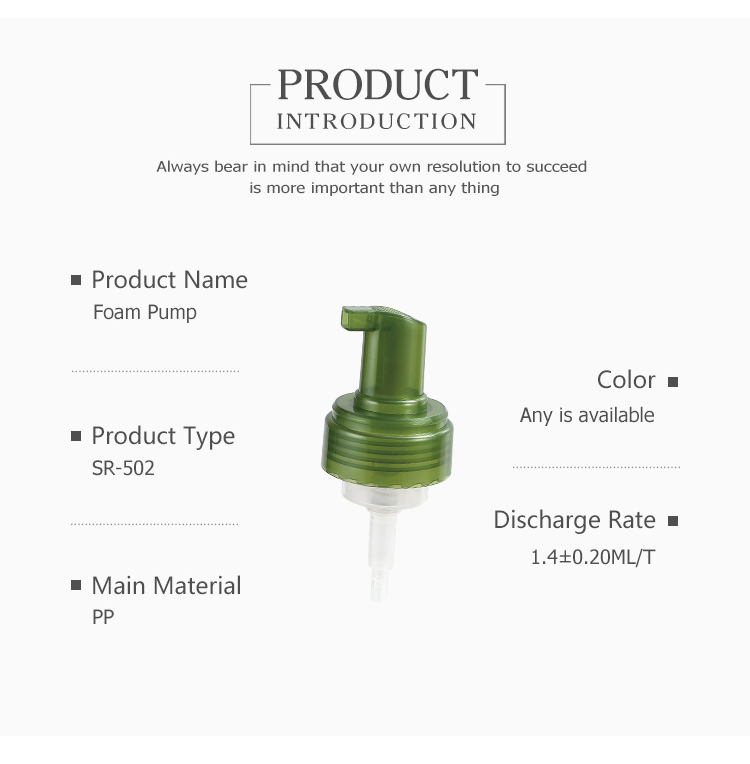 Factory sale various hand wash foam dispenser pump,new foam soap pump