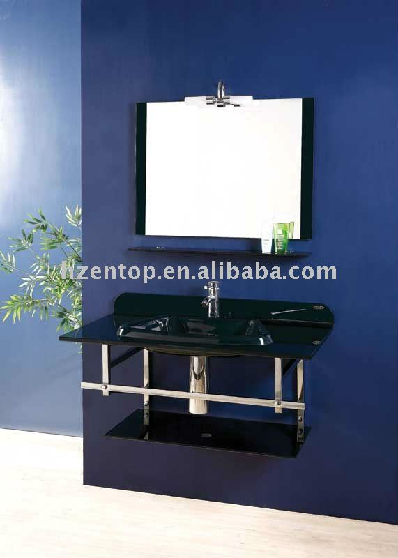 wall mounted glass basin 304# stainless steel braket & railing,and tempered glass shelf