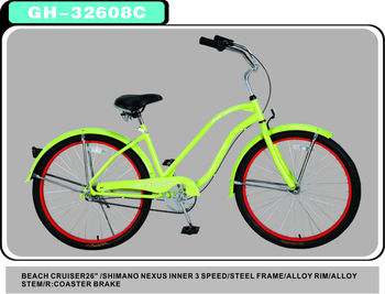 "3 speed 26"" beach bike,beach cruiser bike, cheap price bike.( Shinamno NEXUS INNER 3 SPEED)"