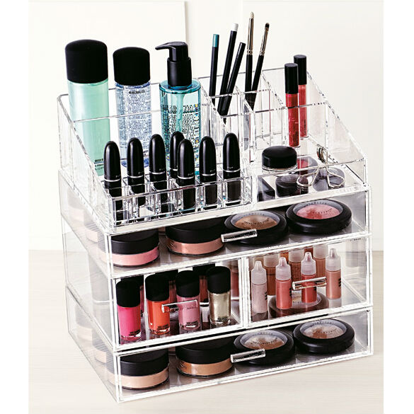 clear acrylic maquillage organisateur bo te acrylique. Black Bedroom Furniture Sets. Home Design Ideas