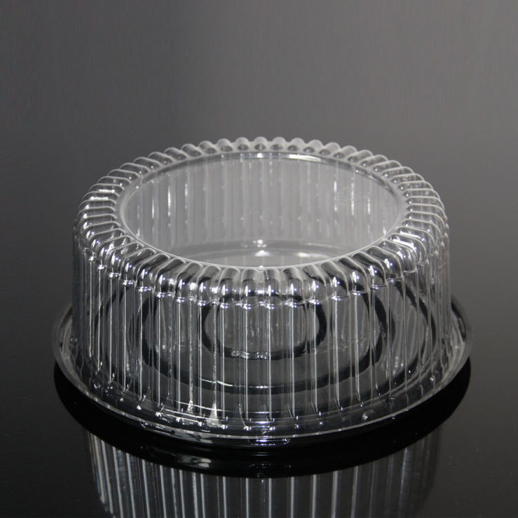 Goedkope promotionele wegwerp plastic dome cake containers, cupcake container