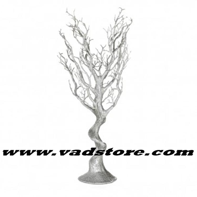 30 Artificial Silver Glitter Manzanita Tree Wedding Table Centerpiece Wish White Trees For Weddings