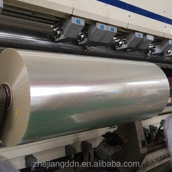 8 - 50 micron BOPET film for Metal aluminum no corona, one-side corona, double sides corona treatments available
