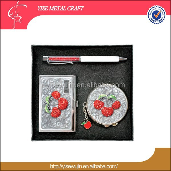 Chinese Wedding Favor Cute Cheery Print Metal Boxed Gift Sets corporate premium gifts for 2017 hot new products