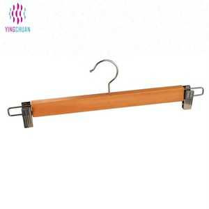 Mens pants hangers top wooden pants hanger with clips