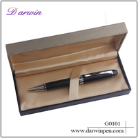 2015 hot-selling gift maple metal hotel ballpoint pen