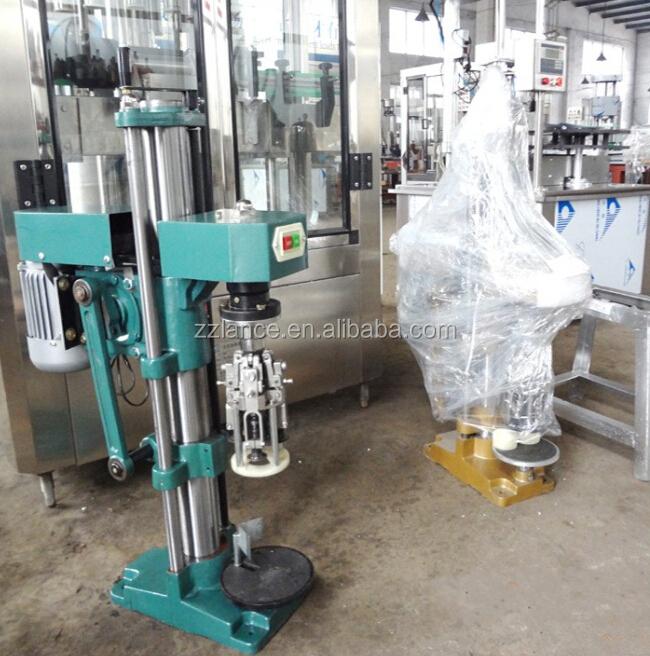 Lance Glass Bottle Aluminum Cap Sealing Machine