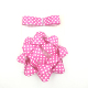 Fashionable Party Decoration Birthday Pink Polka Dot Ribbon and Gift Bow