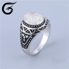 E GuoLong custom sterling silver ring silver jewelry new products ring for man