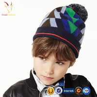 Knitted 100 Cashmere Wool Caps Hat with Top Ball