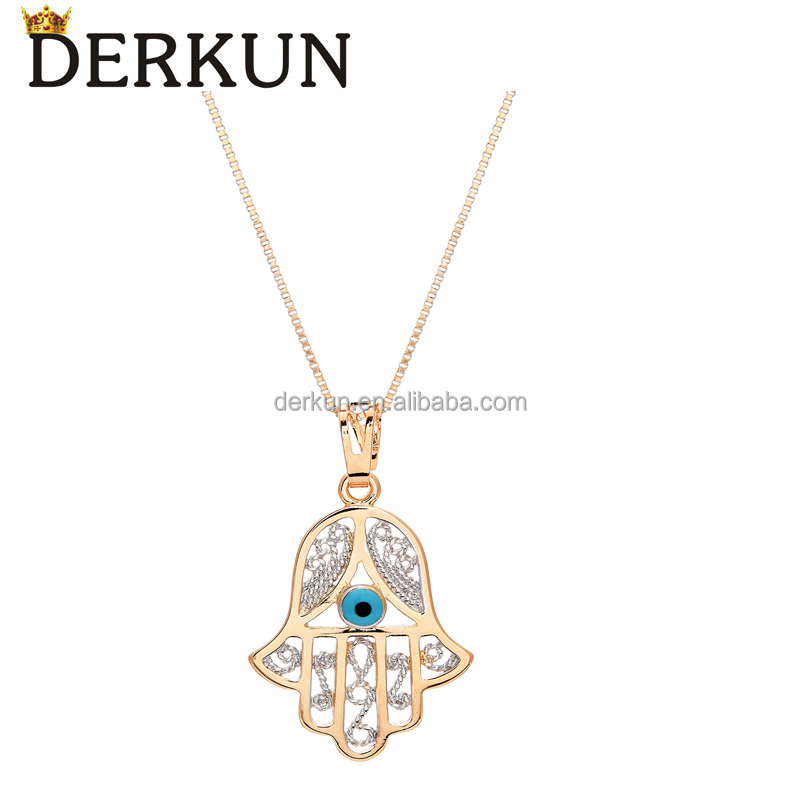 2017 Wholesale Women Fashion Charm Pendant Turkish Evil Eye Pendant Necklace