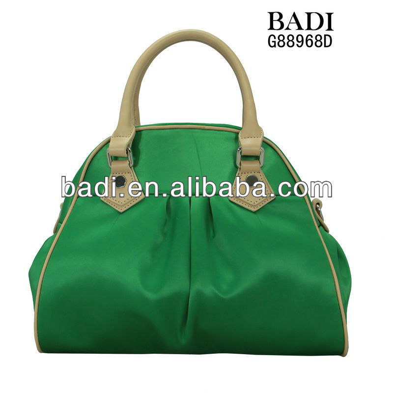 2014 latest hot selling designer fashionable cheap price nylon fabric tote handbags cheap women bags