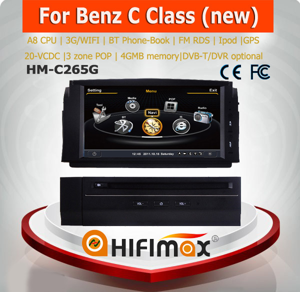 Hifimax Car DVD GPS for Mercedes Benz C Class 2007-2011navigation system for mercedes benz c300 navigation system