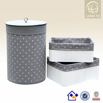 4403703dae2 Woven grey laundry basket bamboo square laundry cabinet cute laundry hamper