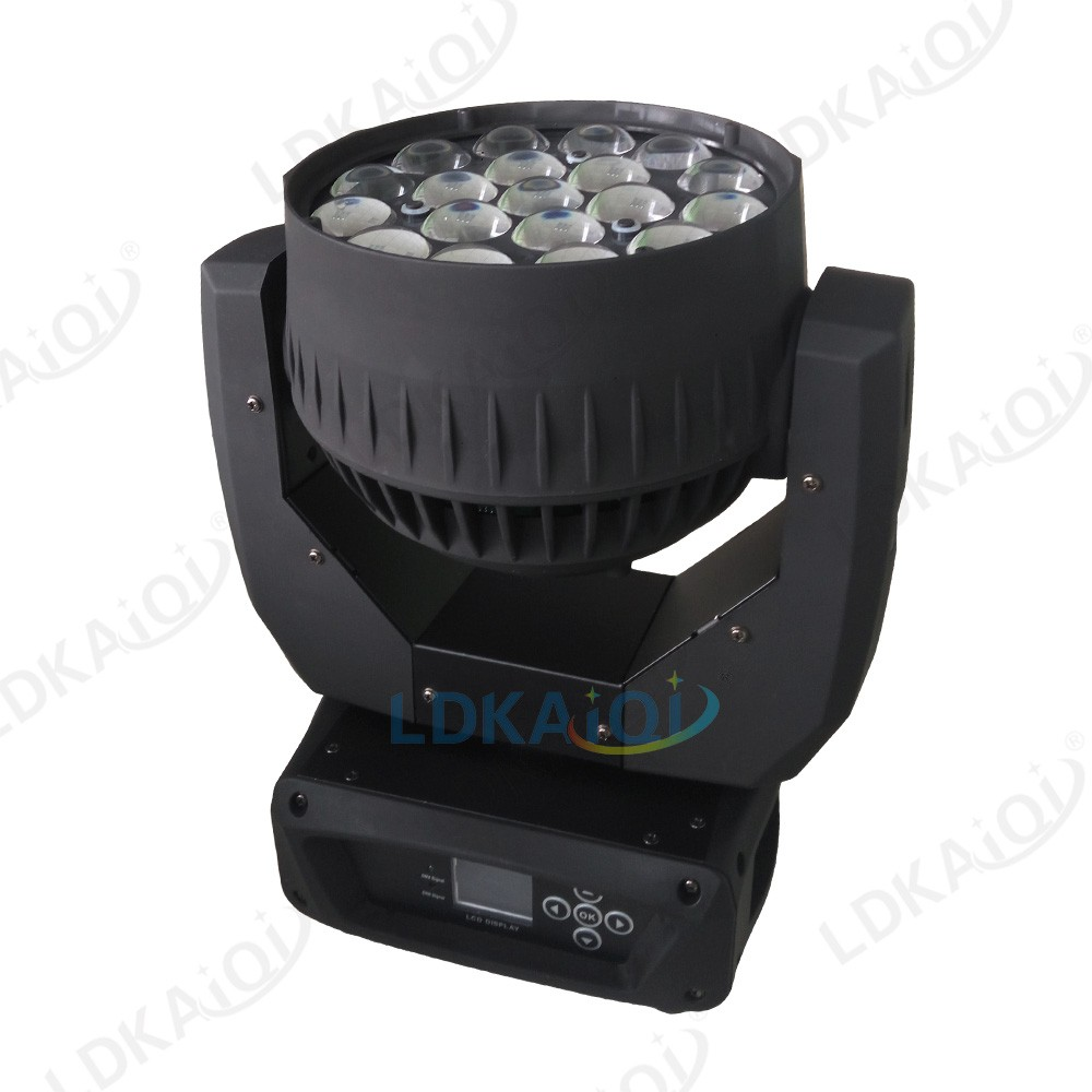 19*12W moving head beam light wash moving head RGBW zoom moving head light