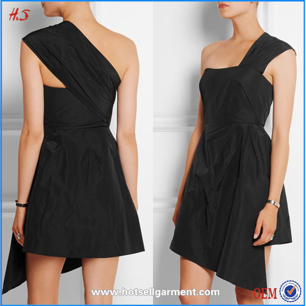 Fashion Latest Dress Designs Photos of Girl Party Wear Western Dress One Shoulder Homecoming Dresses under $50