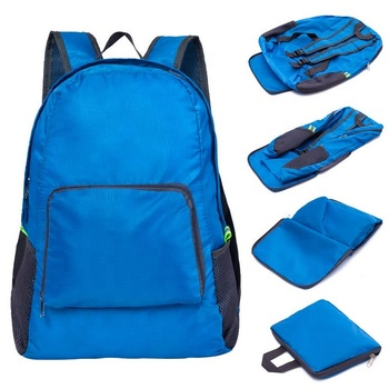 Lightweight Folding Backpack Foldable Travelling Waterproof Promotional Bag Unisex Colorful Foldable Backpack