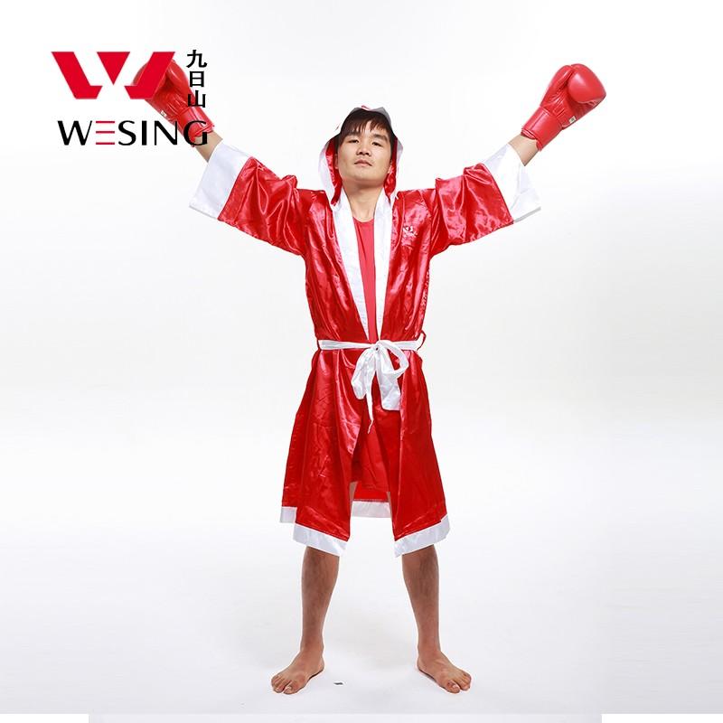 Wesing boxing robe with hood MMA uniform kick boxing clothing muay thai cloak
