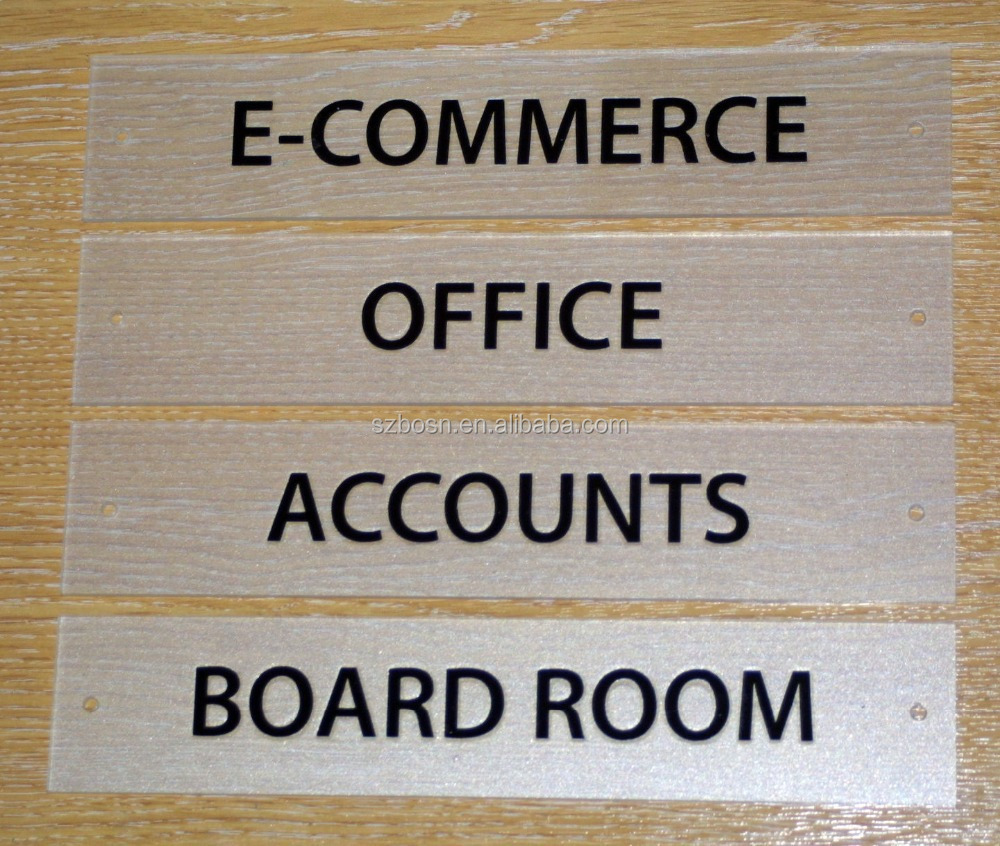 Modern Acrylic Office Door Sign/ Office Name Sign Plate/ Effect Signage