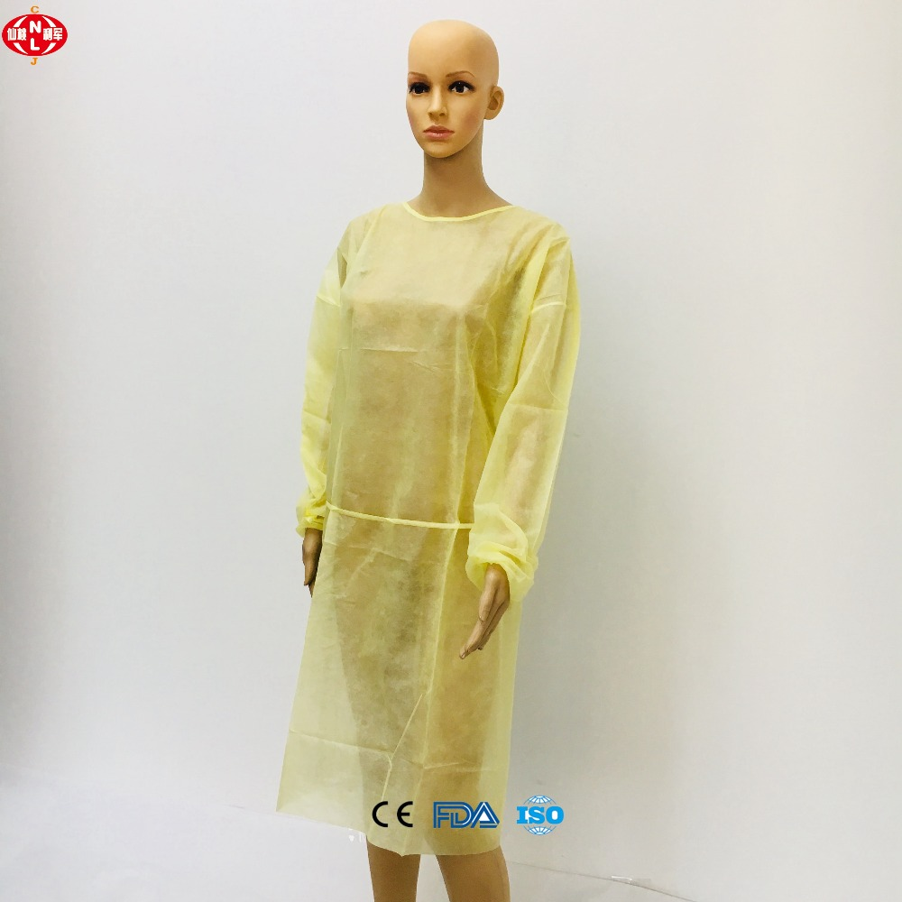 Medical Biodegradable Disposable Yellow Isolation Gown Laboratory ...