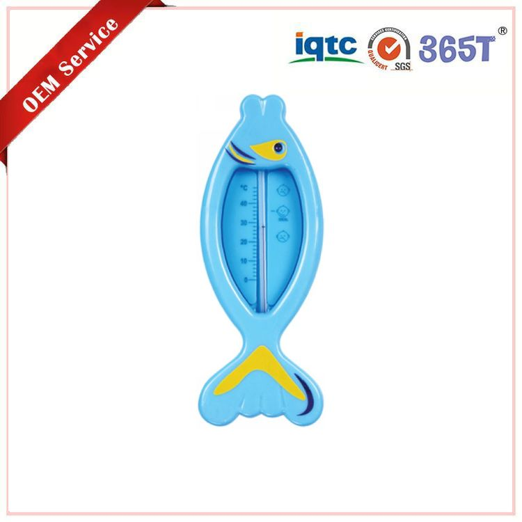 Portable top food grade safe and nontoxic fish shape baby bath waterproof digital thermometer