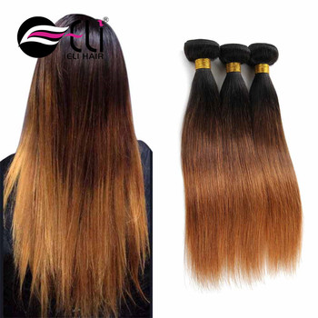3 Tone Color Ombre Hair 8a Grade High Quality Human Hair 100 Virgin
