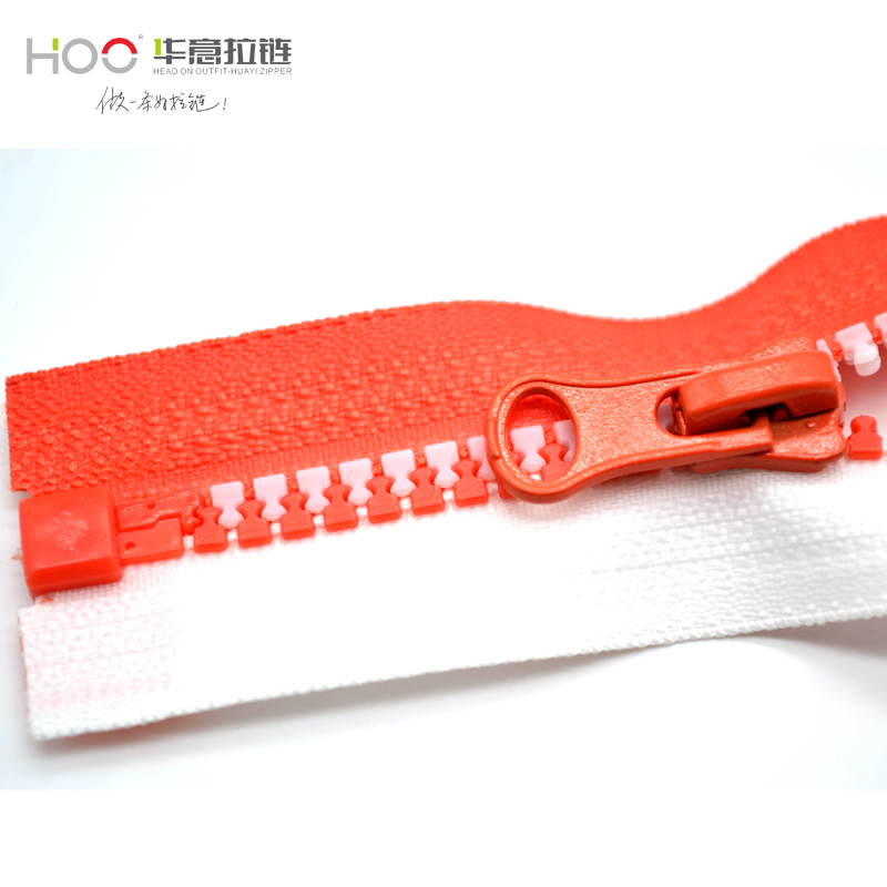 HOO plastic waterproof zipper New products 5# colorful teeth zipper plastic zipper for bag custom zips for clothes