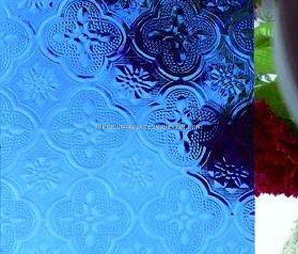 Flora Rolled Glass (Figured glass, Pattern glass, 4-6mm) Clear or colored Glass