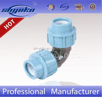 Chinese Manufacturer PP Compression Fittings HDPE Pipe Fittings Plumbing Materials for irrigation