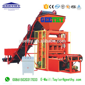 QTJ4-26C Factory made electric motor cement brick making process