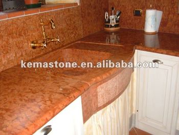 Merveilleux Rosso Verona Kitchen Red Marble Countertops