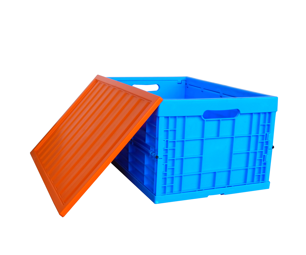 tote heavy duty collapsible plastic crates straight wall stackable storage bin crate container